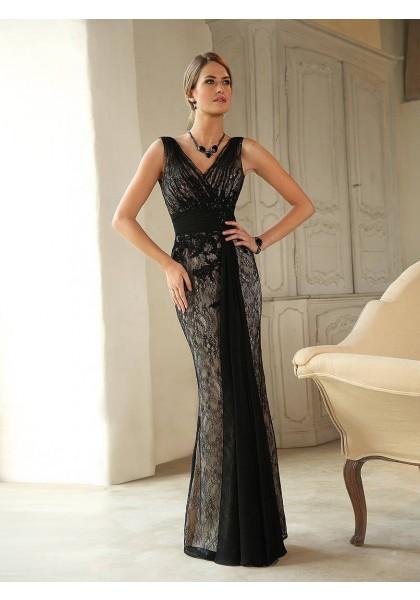 elegant-v-neck-floor-length-black-lace-trumpet-mermaid-mother-of-the-bride-dress-b2lr0032-a