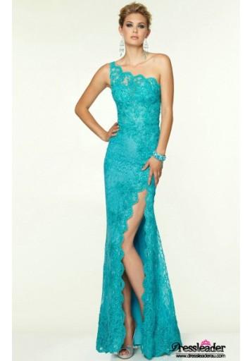 high-slit-lace-floor-length-black-one-shoulder-sheath-column-formal-dress-lcpa0136-c