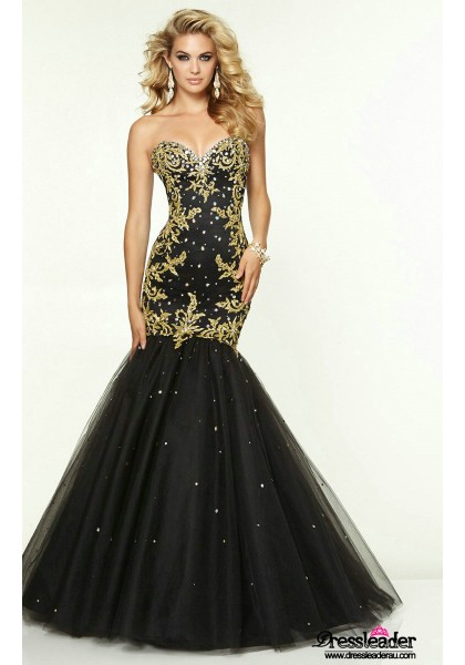 luxurious-tulle-floor-length-black-sweetheart-trumpet-mermaid-formal-dress-lcpa0119-a
